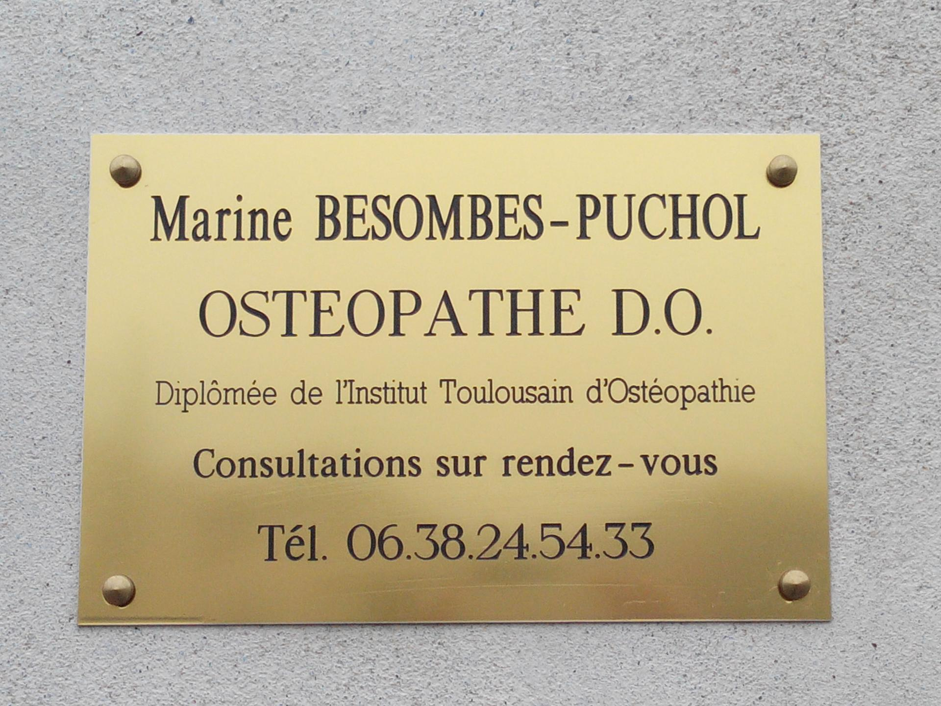 Marine Besombes-Puchol Ostéopathe